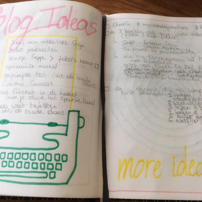 ideetjes voor deze blog