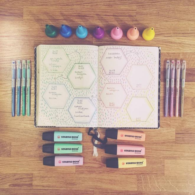 Bullet journal pastel kleur tint bujo inspiratie bucket list life goals